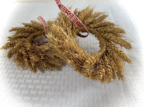 A Pair Of Wheat Wreaths