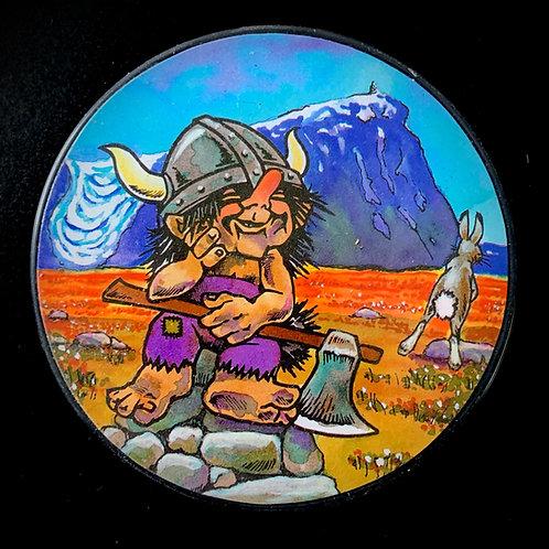 A Set Of Viking Troll Coasters