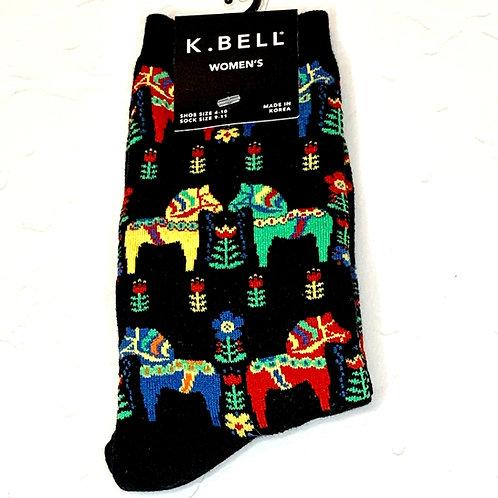 Dala Horse Socks