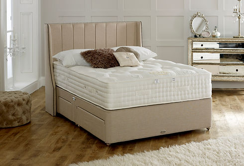 A luxurious Kensington bed made with natural products by Smeaton brothers.