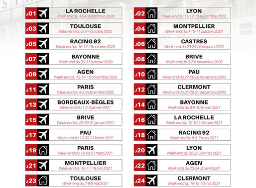 Calendrier RCT 2020-2021 Groupe Loudane