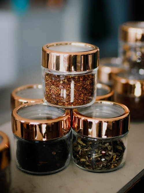 Copper Jar Tea Set