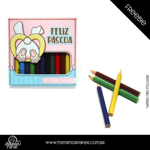 Freebie Caixa Mini Lápis De Cor 12 Unidades
