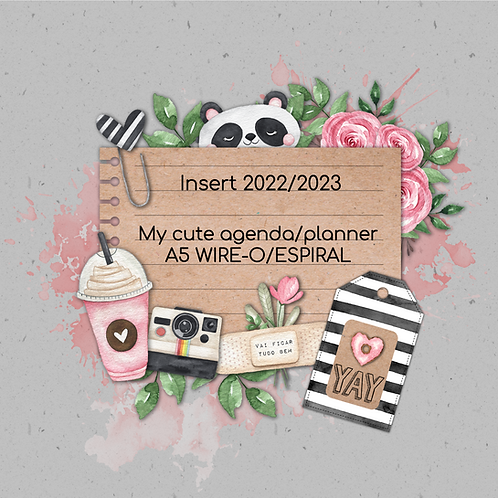 Insert 2022 My cute agenda/planner A5  wire-o/espiral