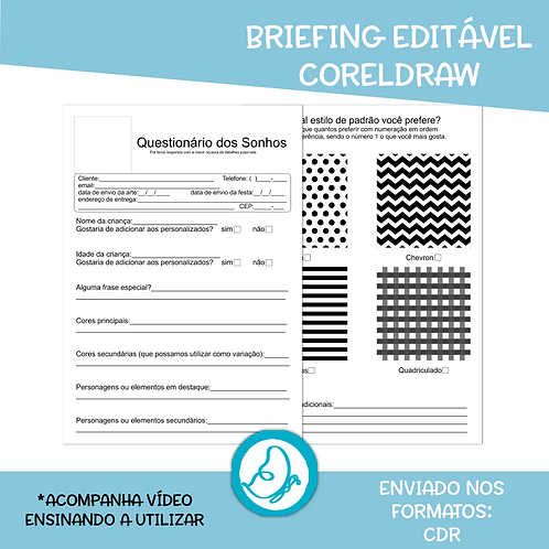 Briefing Editável CorelDraw
