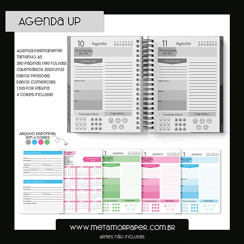 Agenda Permanente Up 4 cores