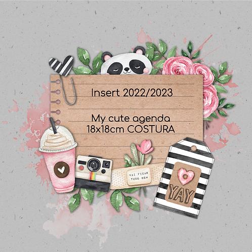 Insert 2022 My cute agenda 18x18cm  Costura