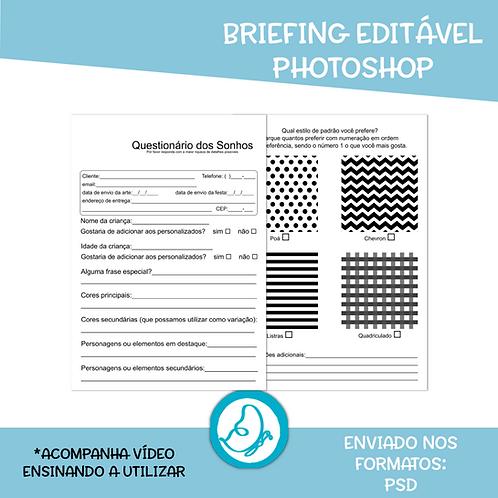 Briefing Editável Photoshop