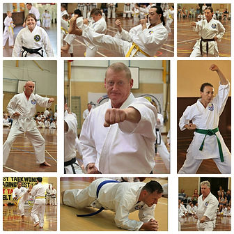 First Taekwondo Perth adult students collage