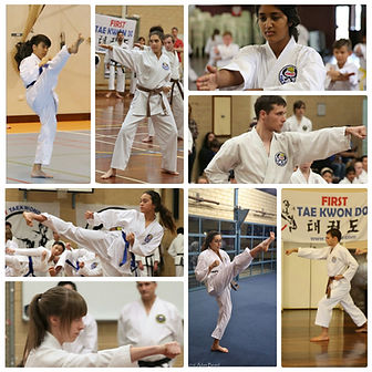 First Taekwondo Perth teenage students collage