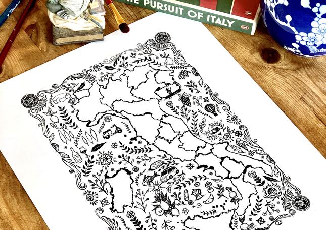 Italy Folk Map