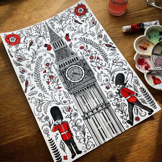 Big Ben Folk Print