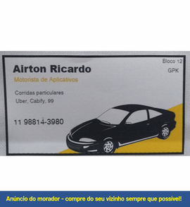 AIRTON RICARDO - Transporte por aplicati