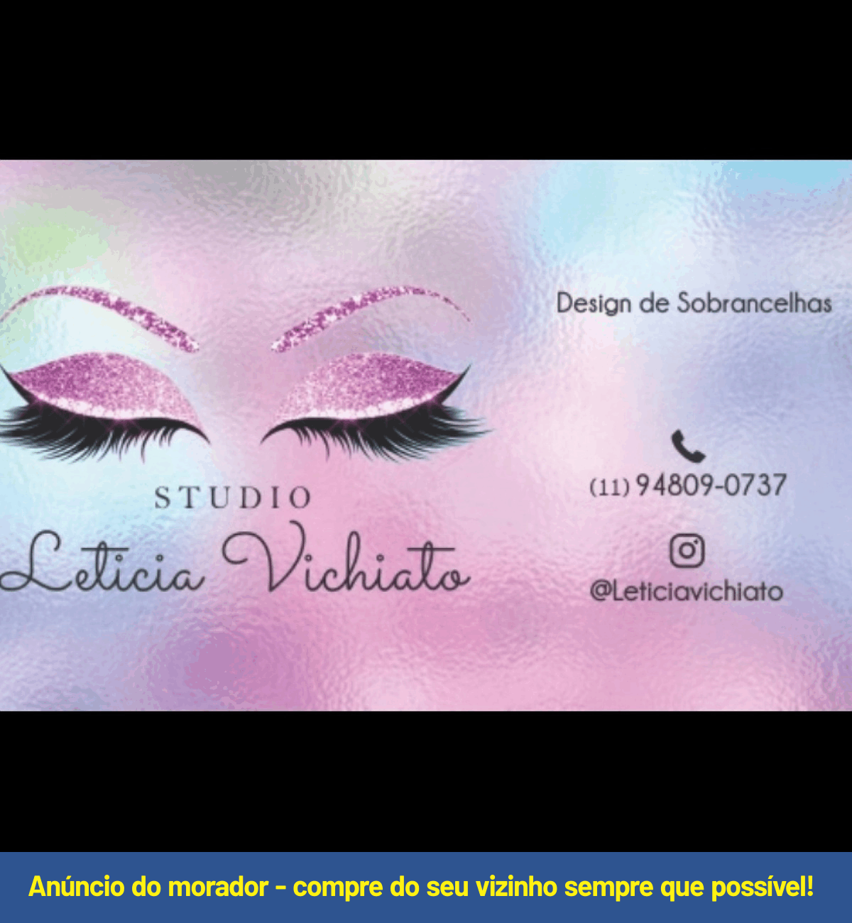 DESIGN DE SOBRANCELHAS - Leticia Vichiat