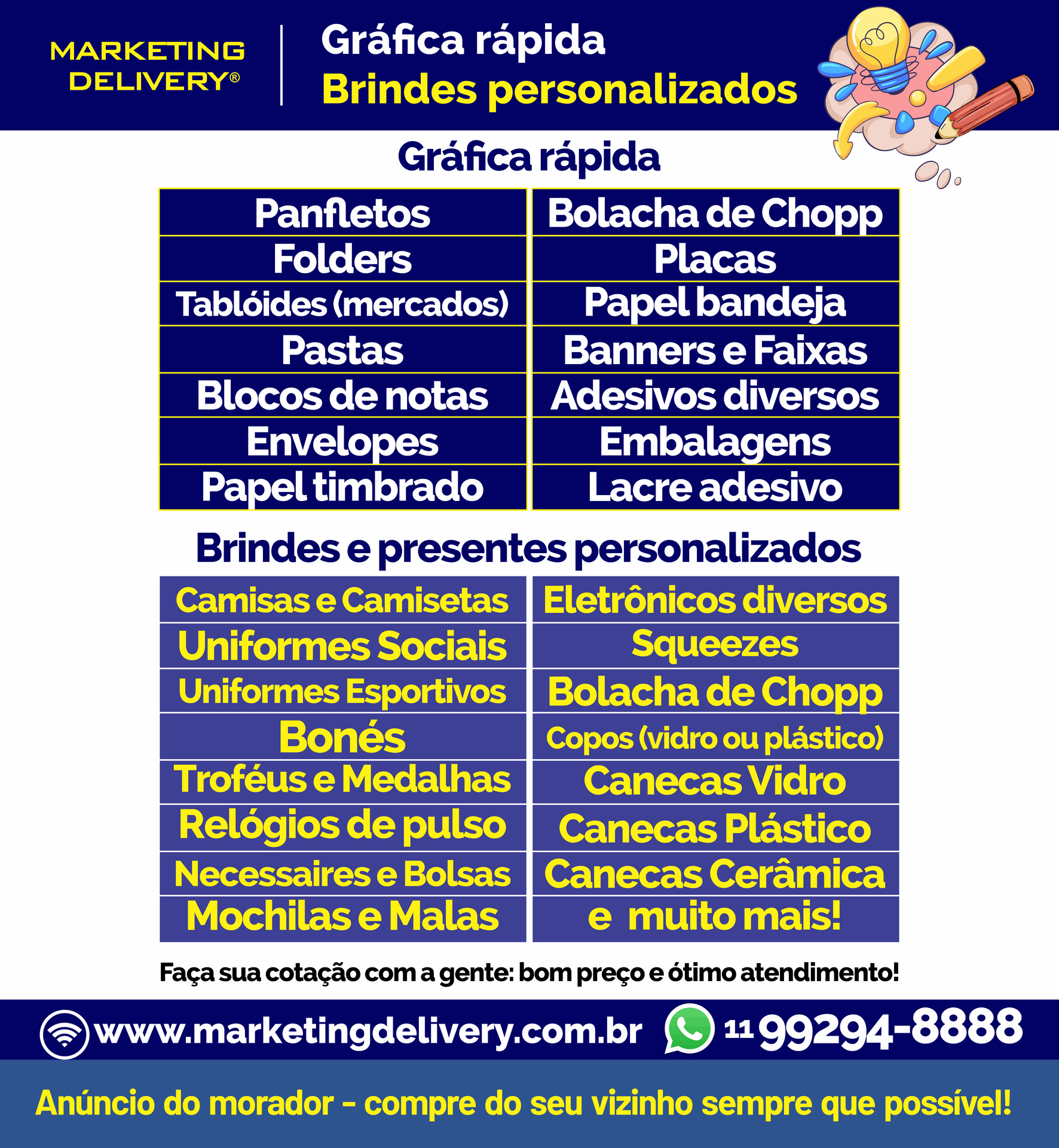 MARKETING DELIVERY - Impressos personali