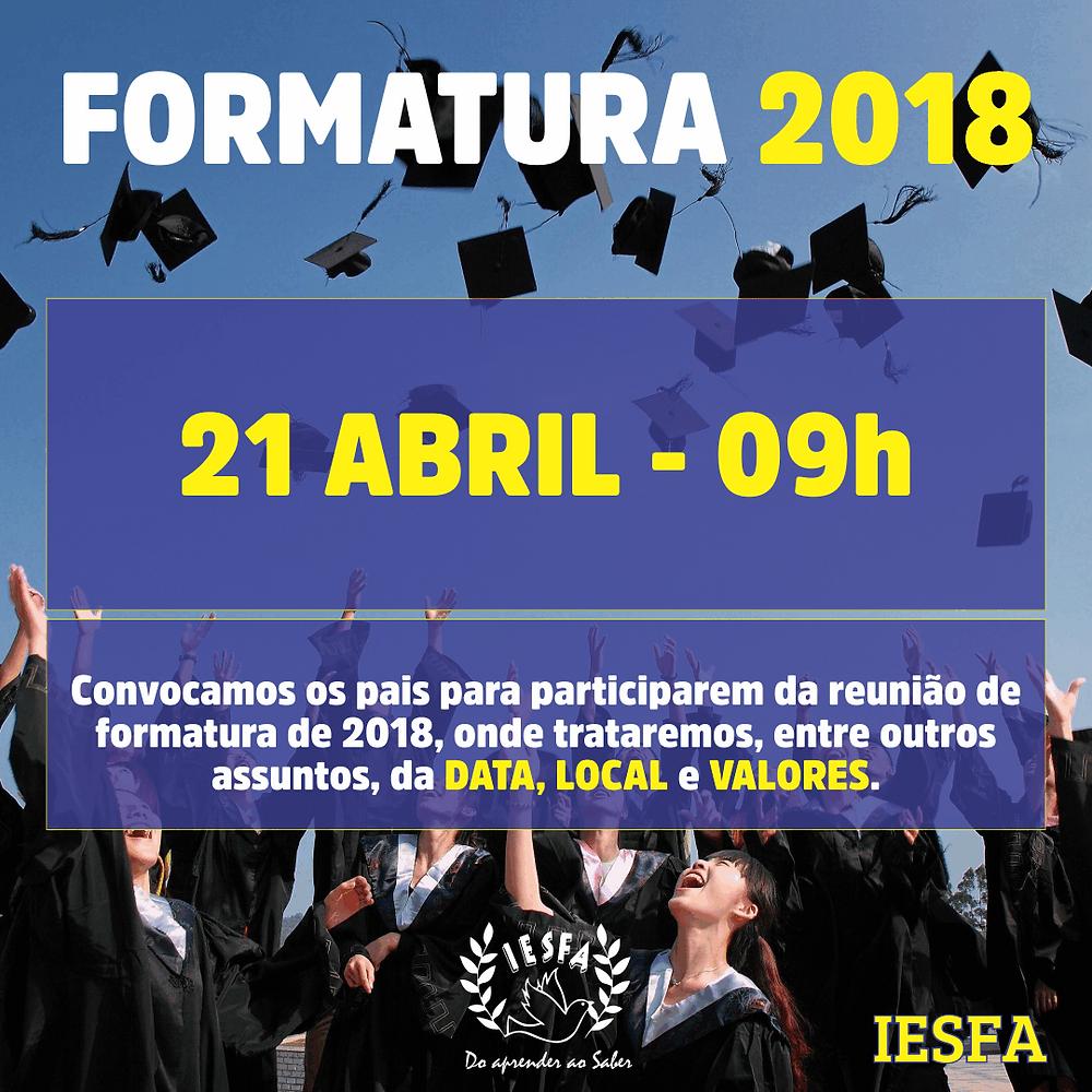Formatura IESFA - 2018