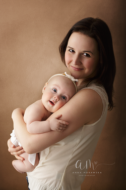 Mother and baby poto shoot