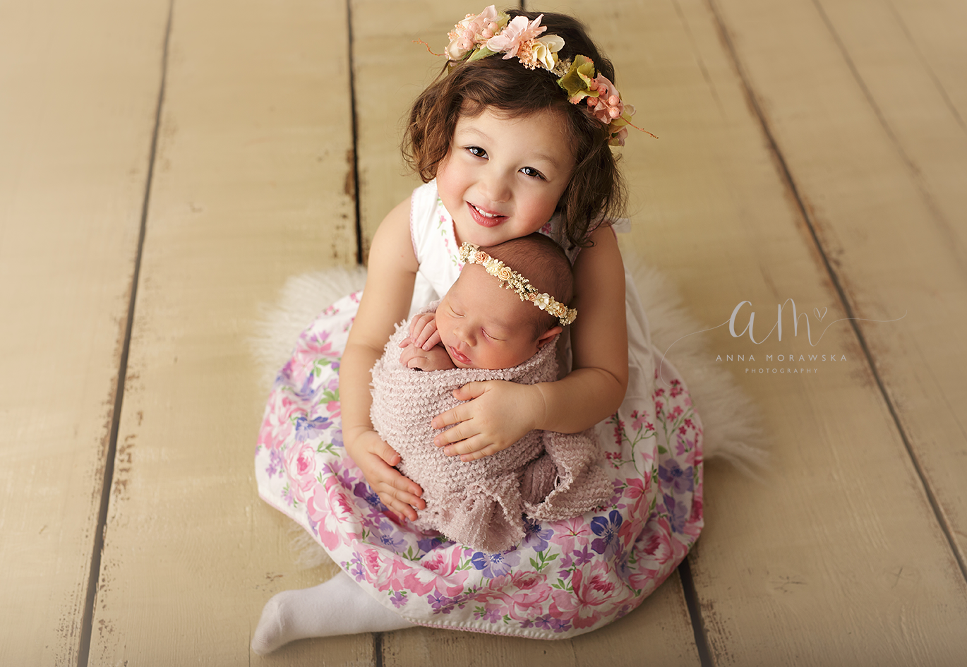 baby and sister photo
