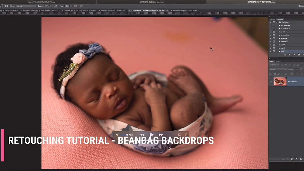 RETOUCHING  TUTORIAL - BEANBAG BACKDROPS