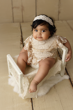 six month old baby session
