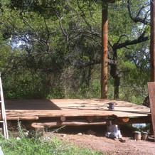 Puliendo el suelo de madera