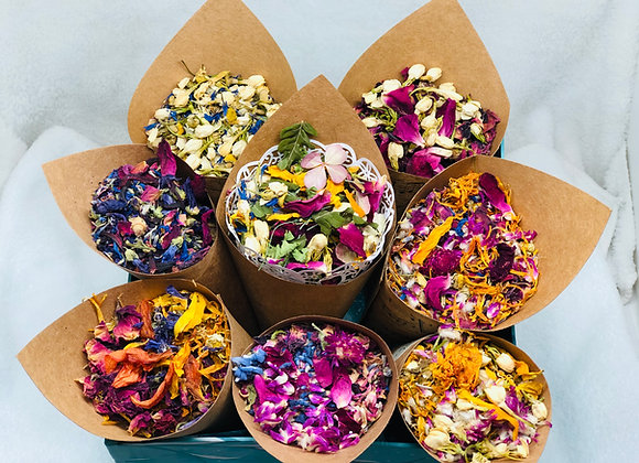 Botanical, Flower Wedding Toss Confetti, Ecofriendly, Biodegradable, Victorian
