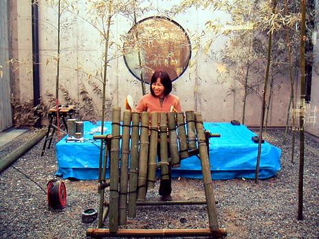 栗林さんの竹楽器/七ヶ浜