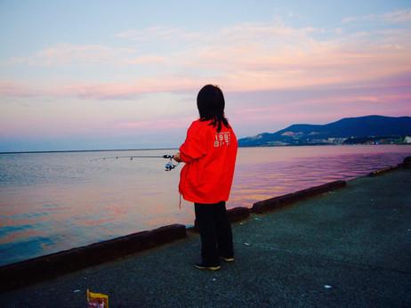 黄昏の小樽港 釣れない。。