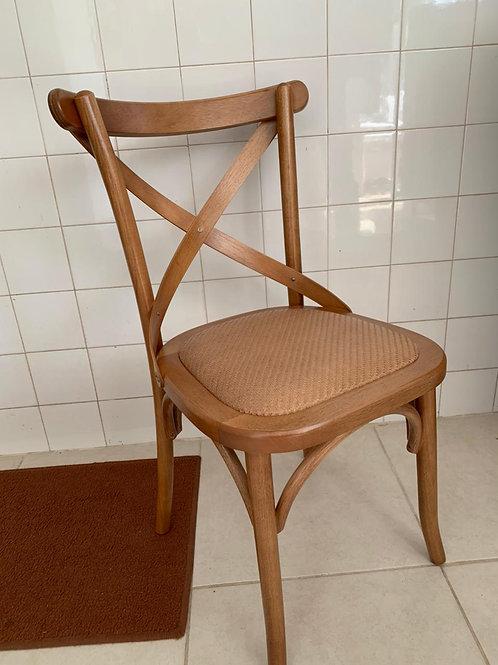 Cadeira X Assento Palha