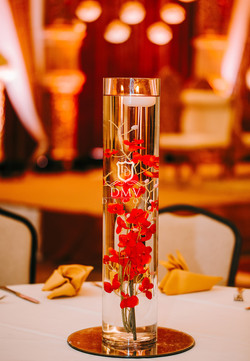 Wedding-centerpiece-Red-Glass-Floating-Candle