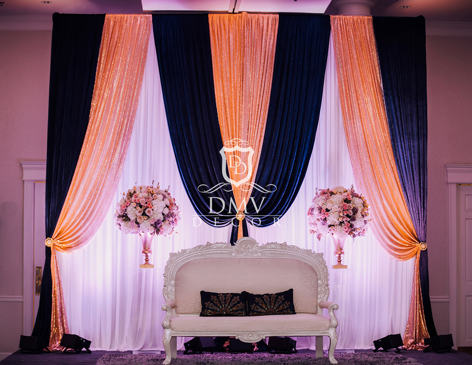 Reception-Decoration-Gold-Navy Blue