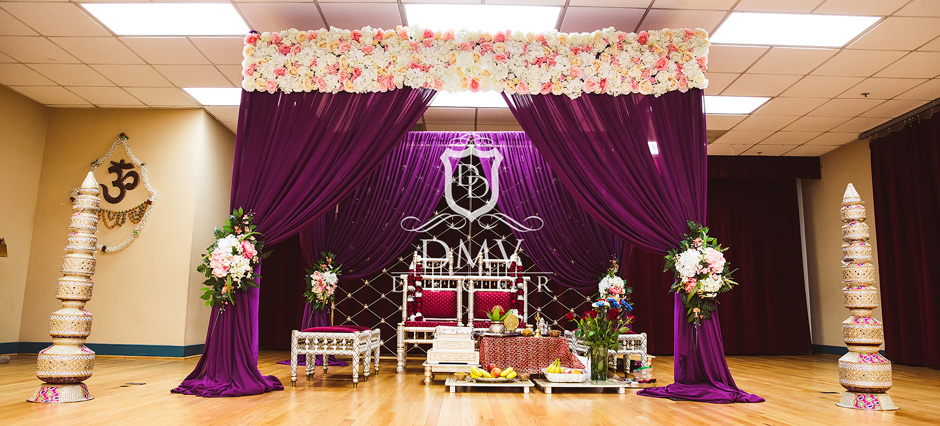 Purple-Hindu-Wedidng-Mandap-Chuppah-Decoration