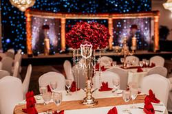 Red-Gold-Trumpet-Wedding-Centerpiece