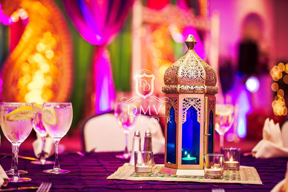 Mehndi-Table-Decoration-Gold-Lantern