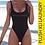 Thumbnail: Plush Honeyzzz | One-piece Swimsuit (Black, Burgundy)