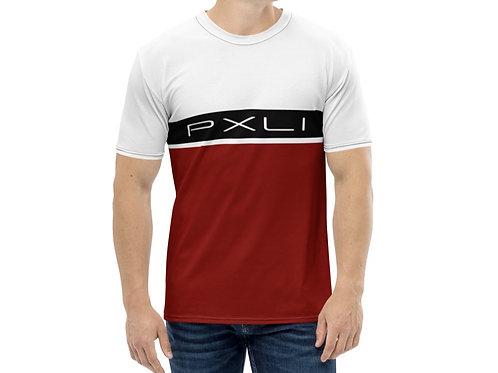 """PXLI """"Da Block""""   Men's T-Shirt (White, Brick, Black)"""
