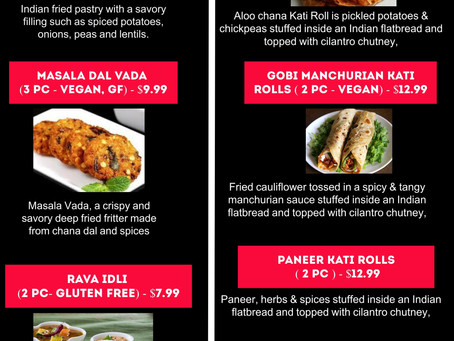 Try our new dishes