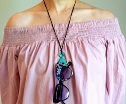 loop eyeglass holdert - acqua with sungl
