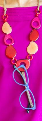 Pebbles - Fuchsia & Red C.0222