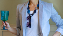 Vi Pebbles eyeglass holder necklace in Kirk Originals sunglass