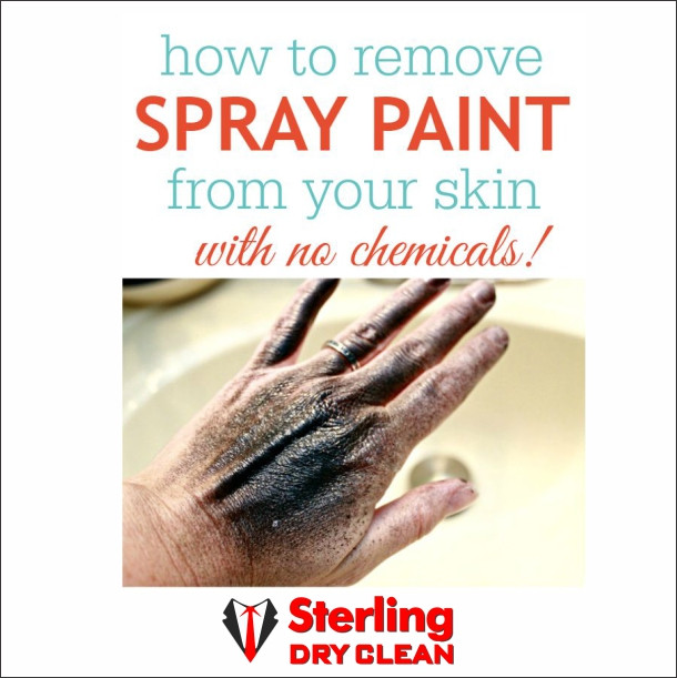 Remove spray paint from your skin with no chemical