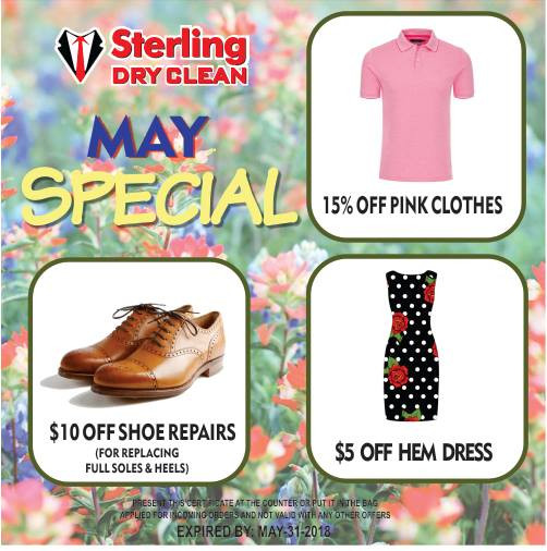 Special Offers for May 2018