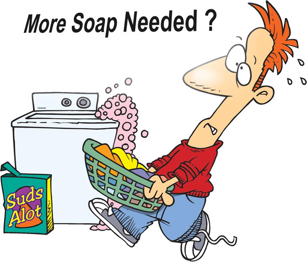 Are you using too much soap?