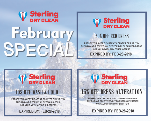 Special Offers for February 2018