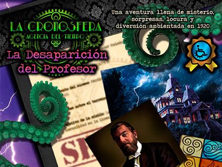 'La desaparición del profesor', La Cronosfera (Enero 2020, Madrid)