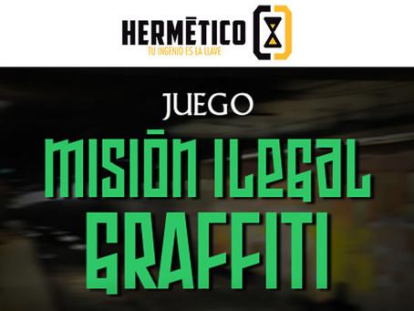 'Misión ilegal: Graffiti', Hermético Escape Room (Junio 2018, Madrid) - CERRADA
