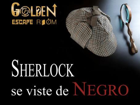 'Sherlock se viste de negro', Golden Escape Room (Abril 2018, Coslada) - Evento inauguración