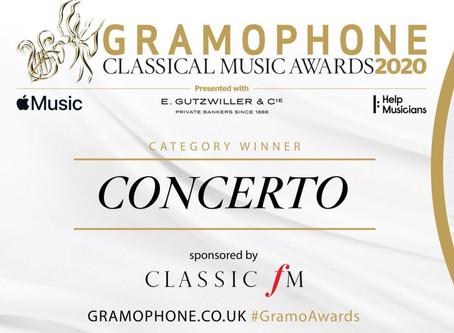 Benjamin Grosvenor wins Gramophone Concerto Award