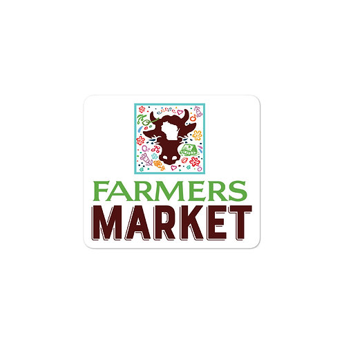 Farmers Market Bubble-free stickers