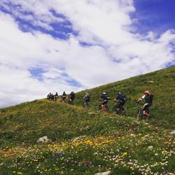 Backcountry riding Sainte Foy